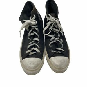 Converse Unisex Sneakers Shoes Black 150143C High Top Lace Up M 12/ W 14