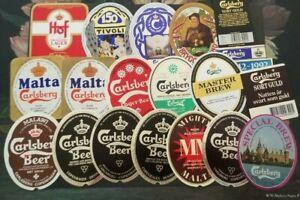 Denmark, Danmark nice lot of all different Carlsberg Beer Labels XIV