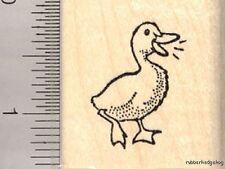 Small Duck rubber stamp B12002 WM Farm Duckling Pond