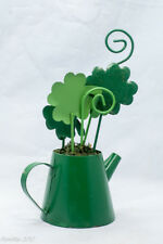 Celtic Watering Can w 4 leaf Clovers  St. Patrick Day March 17 Deco Gift New