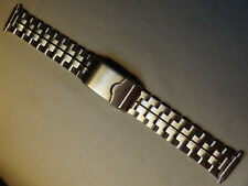 Mens Timex Stainless Steel 16-22 mm Watch Band Security Deployment Buckle Clasp