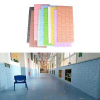 3D Foam Stone Brick Self-adhesive Wallpaper DIY Wall Sticker Wall Decor 70*30 JX