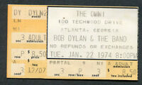 1974 Bob Dylan and The Band concert ticket stub Atlanta Georgia Planet Waves
