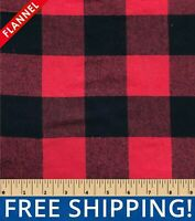 """Buffalo Plaid Yarn Dyed Flannel Fabric - 58"""" Wide - Style# FP38 - Free Shipping!"""