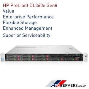 HP ProLiant DL360e Gen8 1u Rack Server / CTO SERVER / BUILD YOUR OWN SERVER !