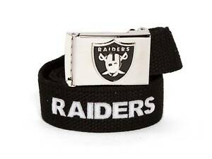 Web Belt with Buckle Oakland Raiders