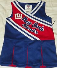 """NEW"" New York Giants ~ CHEERLEADER Pleated UNIFORM Dress ~ NFL Child Size 12M"