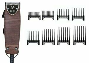 New Oster Fast Feed Limited Edition Woodgrain Hair Pro Clipper + 8 pc Comb Set