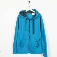 Vintage C9 By CHAMPION Zip Up Polyester Hoodie Sweatshirt Blue | Medium M