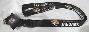 "NFL Jacksonville Jaguars Logo Name Silver Lanyard 23"" Long 3/4"" Wide by Aminco"