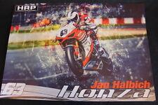 Poster HRP Honda CBR 1000RR 2015 #63 Jan Halbich (CZE) IDM SBK (HW)