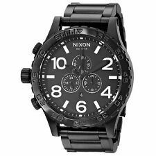Nixon THE 51-30 CHRONO All Mattte Black 300m Quartz Men's Watch A083 001 NWT