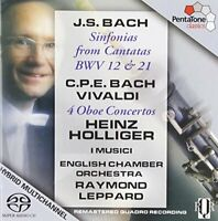 Holliger - J.S. Bach, C.P.E. Bach: Sinfonias from Cantatas BWV 12 [SACD]