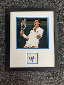 Ivan Lendl Signed Cut Custom Framed Tennis