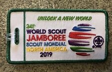 24th World Scout 2019 Jamboree Luggage Tag. Green Boarder