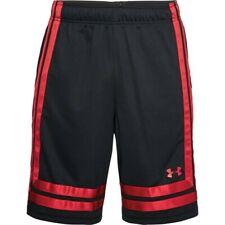 Under Armour Men's UA Baseline 25 cm 18 Shorts - Medium - Black/Red - New
