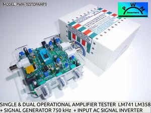 SINGLE & DUAL OPERATIONAL AMPLIFIERs OpAmps ICs Series IC Tester PWM-TESTOPAM1