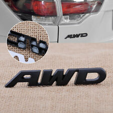 New Black Car Auto Side Body AWD Metal 4 Wheel Drive Emblem Badge Sticker Decals