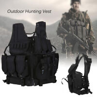 Military Vest Tactical Assault Plate Carrier Holster Police Molle Combat Gear US