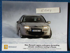 "Original press promo photo - 8""x6"" - Renault-Laguna - 2007-neige"