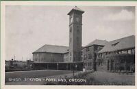 Vintage Postcard Oregon OR Union Station Photo Courtesy Chamber Commerce