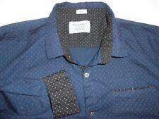 Paper Denim & Cloth Long Sleeve Flip Cuff Stretch Fabric Blue Mens Shirt XXL