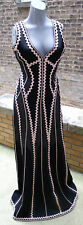 Herve Leger Women's Black Lineisy Evening Dress Size M