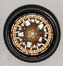 1//18 AB Models Forgiato Wheels Ideal For Maserati in Black Green AB2004