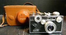 Vintage Argus 35mm C3 Camera f=3.5 50mm w/ Argus Leather Case Very Good Cond