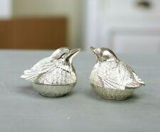 Vogelpaar Vögel Vogel Salz und Pfefferstreuer Salzstreuer versilbert
