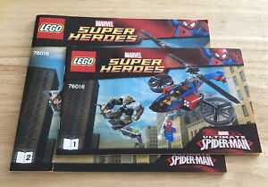 LEGO 76016 SPIDERMAN HELICOPTER RESCUE - INSTRUCTION MANUALS ONLY