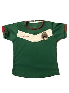 2006 Mexico Nike Soccer Green World Cup Germany selección Jersey Size Youth L