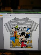 2019 - Mickey Mouse Toddler Boys Short Sleeve Tee Shirt Size 3T Nwt#3Ns18