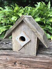 Reclaimed Rustic Wood Bird House Wren Birdhouse Primitive