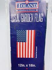 "Toland Garden Flag United States America Usa July 4th Cottage Farm 12� x 18"""