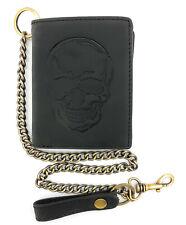 1774d69941287 Material  Leder. Beobachten · Biker Geldbörse m Kette RFID Schutz  Hunterleder Portemonnaie Skull Totenkopf