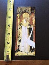 Vtg Paper Bookmark- St Hugh Of Avalon Bishop Of Lincoln- Lincoln Minister-
