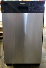 "Danby 18"" 8 Place Setting Stainless Built In Dishwasher DDW1804EBSS"
