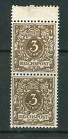 Deutsches Reich Michel-Nr. 45 e Doppelstück - postfrisch ** - Mi. 130,-