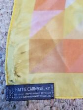 Hattie Carnegie New York Vintage Scarf Made in Japan 100% Silk 13.5 x 52""