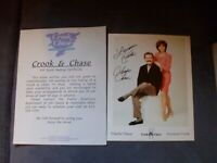 CROOK & CHASE Hand Signed Autographed Photo 8 x 10 with letter authentic vgc