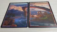 Mountain/Island #2 Non-Foil Panorama Custom Altered Basic Lands MTG