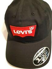 Levi's Classic Twill Curve Flexfit Cap Big Batwing Black
