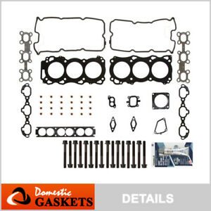 Fits 01-04 Infiniti QX4 Nissan Pathfinder 3.5L DOHC Head Gasket Set Bolts VQ35DE