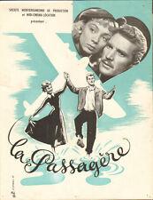 """SYNOPSIS du film """"LA PASSAGERE"""" 1949"""