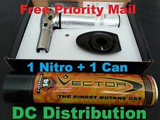 Vector Nitro Torch KGM Silver/Chrome + One Can Vector Butane Filtered 14 Times