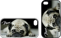 Cute Fawn Pug iPhone 4 & iPhone 4s Personalised Phone Case Great Gift