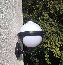Schwarz  Kugel Garten Wandlampe Aussenleuchte Paris Gartenleuchte Leuchte