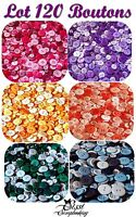 PROMO !! GROS LOT 120 BOUTONS MULTICOLORES SCRAPBOOKING