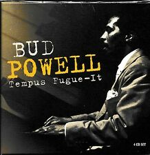 Bud Powell-Tempus Fugue-IT incl. 48 PAGE BOOKLET [4cd Box] Nuovo + SEALED!